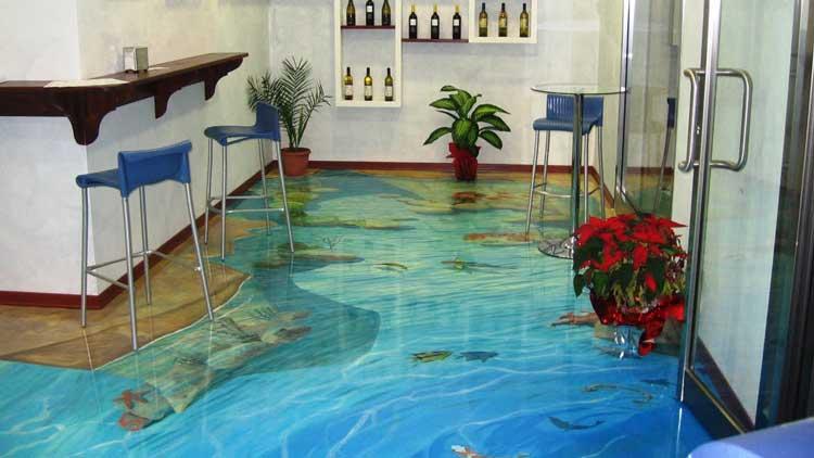 Фото: Наливной 3D пол в комнате