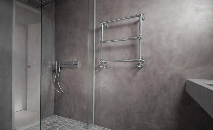 Фото: микроцемент в ванной комнате